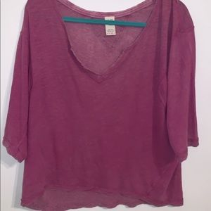 purple free people shirt